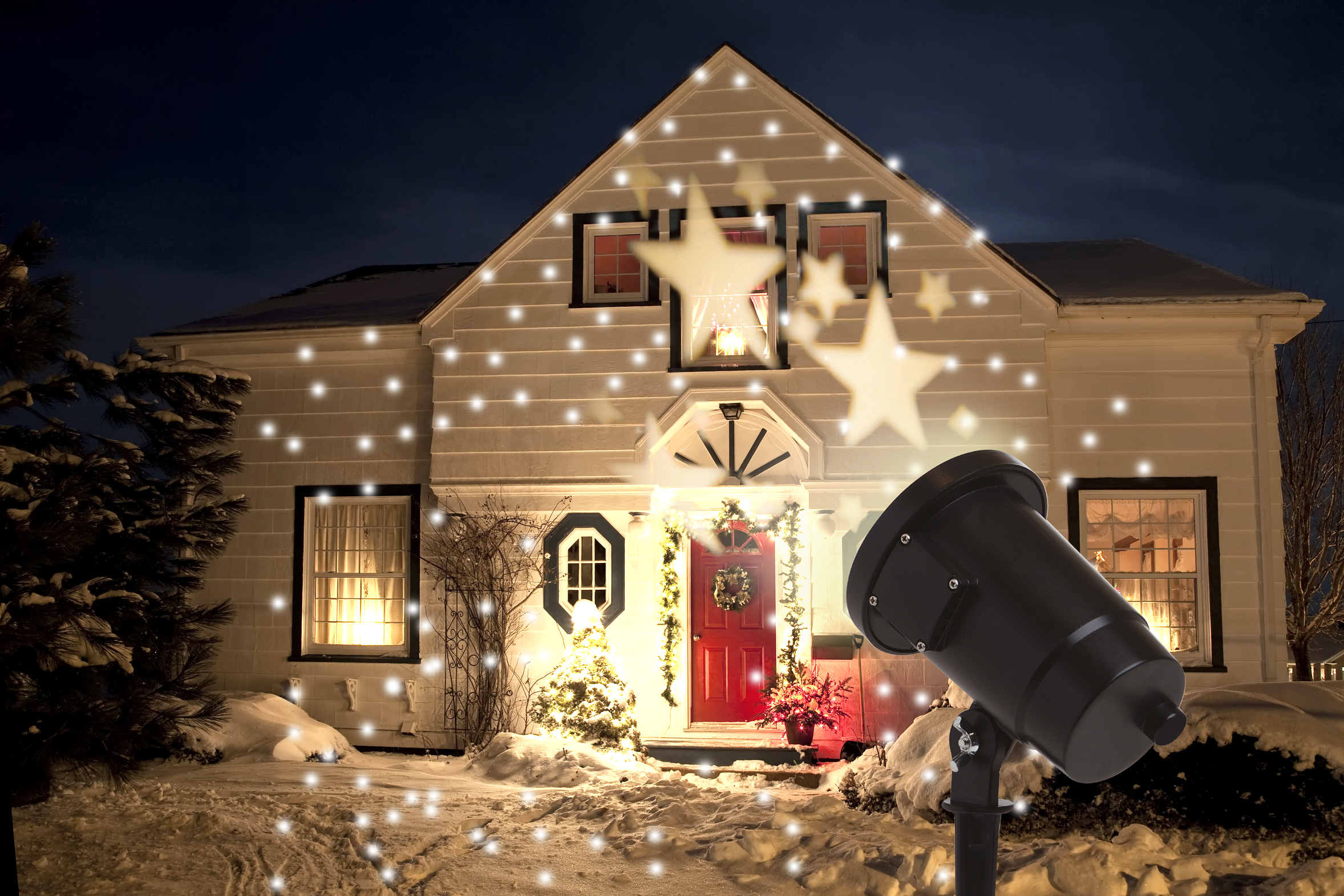 led projektor garten licht rotierende sterne warmwei. Black Bedroom Furniture Sets. Home Design Ideas