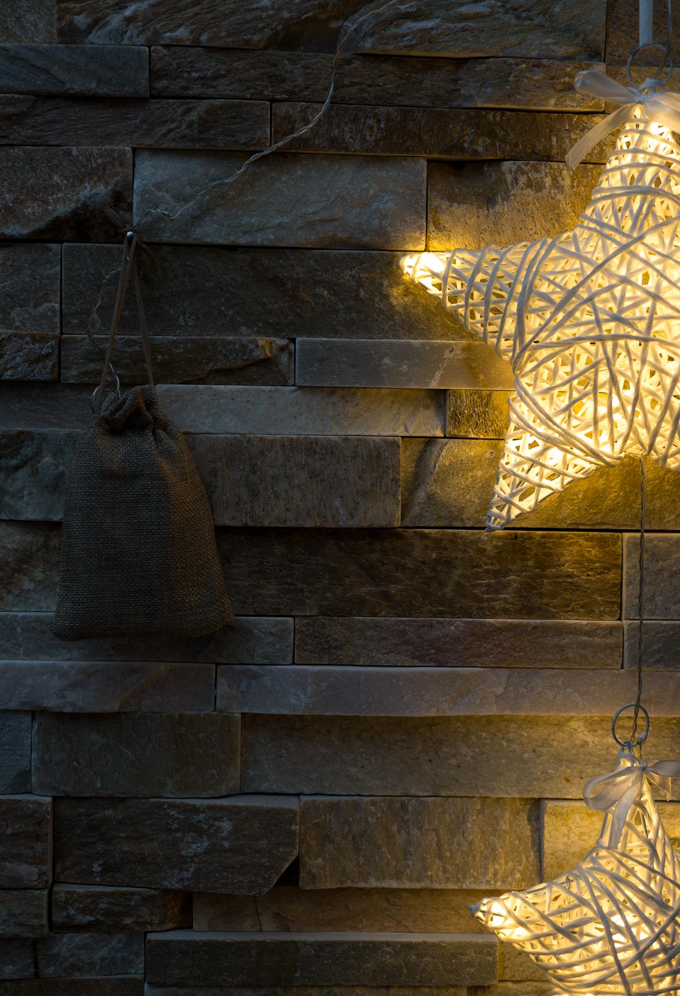 LED 3er Sterne Weiß Deko Hänger Girlande Fenster Advent ...